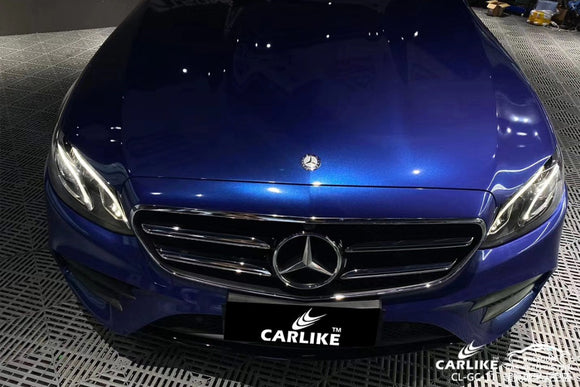 MERCEDES BENZ CAR WRAP - SUPER GLOSS CANDY SKY BLUE