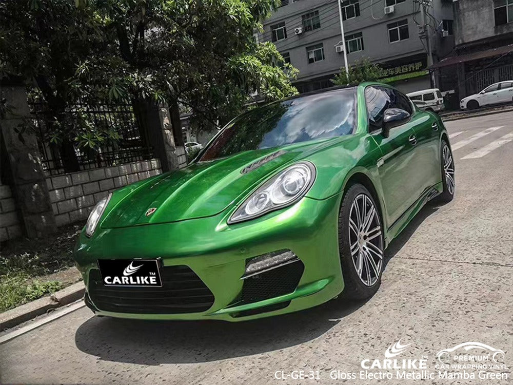 PORSCHE CAR WRAP - GLOSS ELECTRO METALLIC MAMBA GREEN
