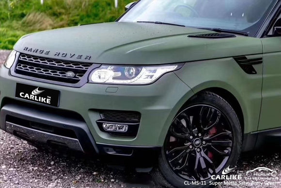 RANGE ROVER - SUPER MATTE SATIN ARMY GREEN