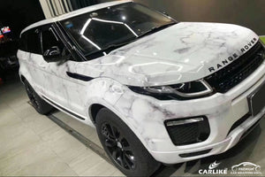 RANGE ROVER CAR WRAP - CAMOUFLAGE PRINTED MARBLE WHITE VINYL