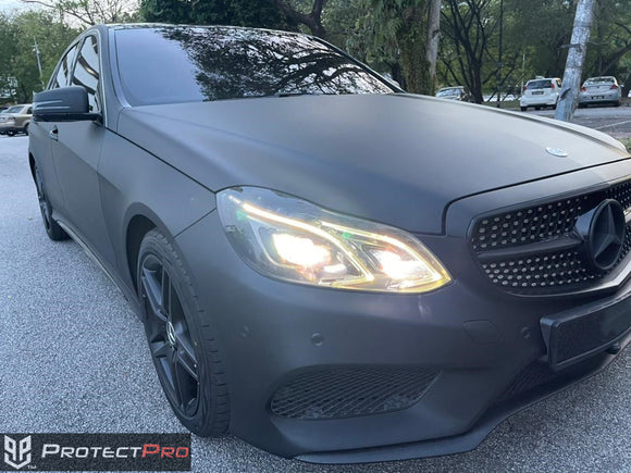 MERCEDES BENZ CAR WRAP - SUPER MATTE BLACK VINYL
