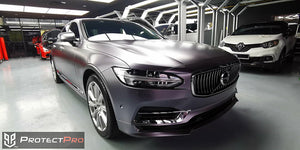 VOLVO CAR WRAP - SATIN GREY VINYL