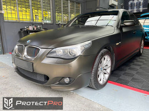 BMW CAR WRAP - CHROME MATTE GREY VINYL