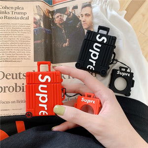 Supreme Suitcase Airpods Case - PodsDrip