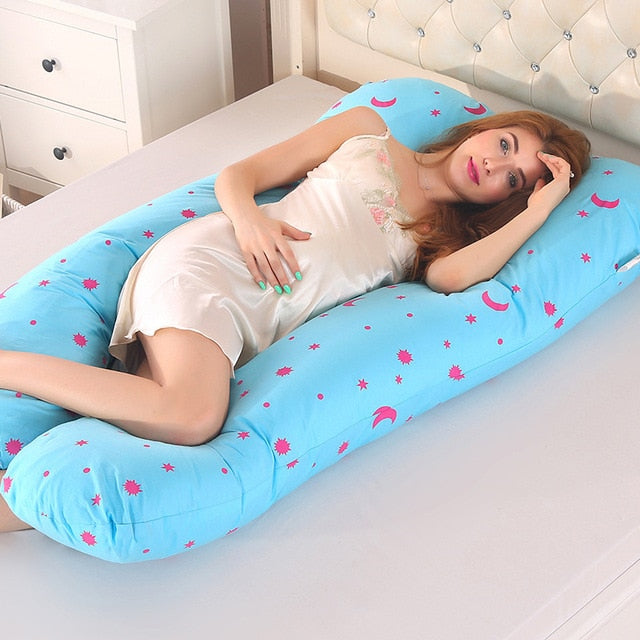 U Shape Maternity Pillows Sky Blue - thedreamwow