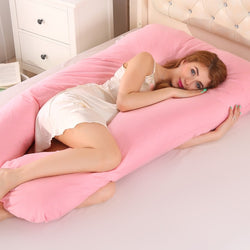 Cover for U Shape Maternity Pillows Pink - thedreamwow