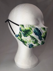 Mask - White - Tropic Leaves - M - Avothea Store