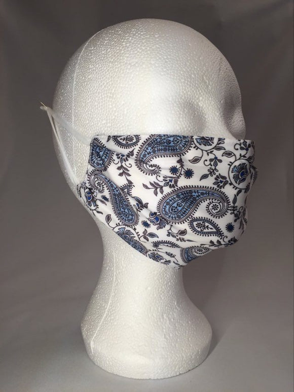 Mask - White - Artistic flowers - M - Avothea Store