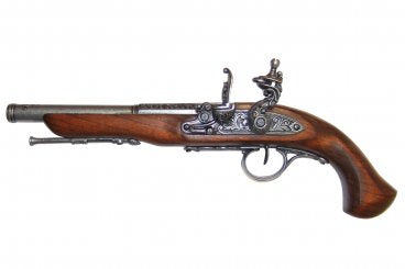 Denix Flintlock Pistol, 18th Century, Left-handed, grey - Avothea Store