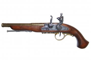 Denix Flintlock Pistol, 18th Century, Left-handed, gold - Avothea Store