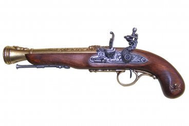 Denix Pirate Flintlock Pistol (Lefthanded) - Gold - Avothea Store