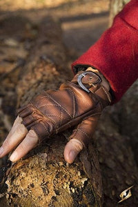 CELTIC GLOVES LEATHER - BROWN - Avothea Store