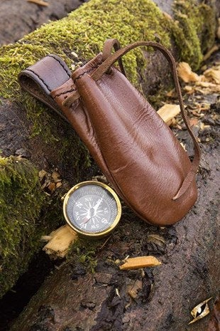Compass With Leather Pouch - Avothea Store