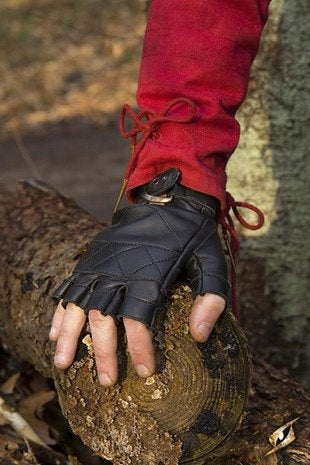 Celtic Gloves Leather - Black - Avothea Store