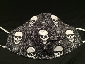 Mask - Black - Medium Skulls - M - Avothea Store