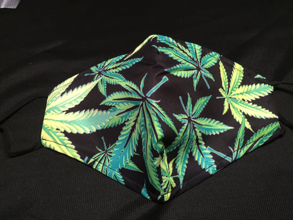 Mask - Black - Cannabis - M - Avothea Store
