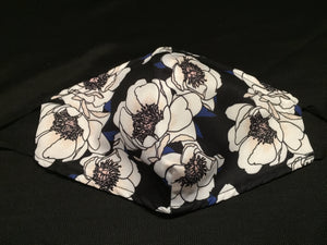Mask - Blue - White flowers - M - Avothea Store