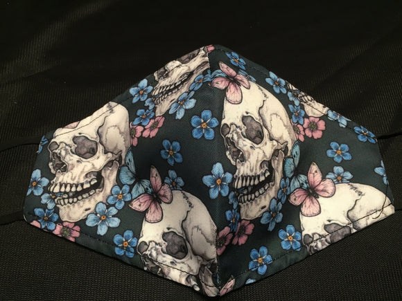 Mask- Skulls with flowers and butterflys - M - Avothea Store