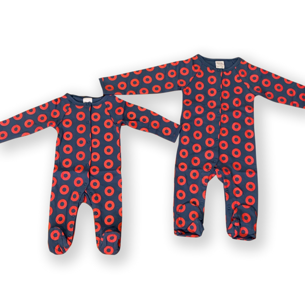 Long Sleeve Donut Baby Onesie