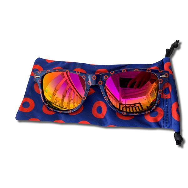 Pink Mirrored Fishman Donut Sunglasses