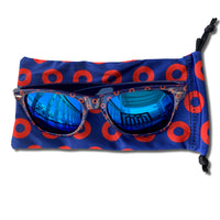 Blue Mirrored Fishman Donut Sunglasses