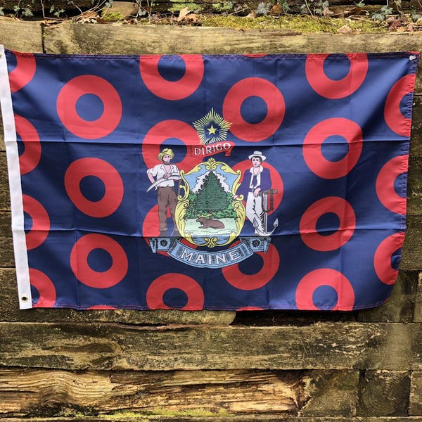 Maine State Donut Flag