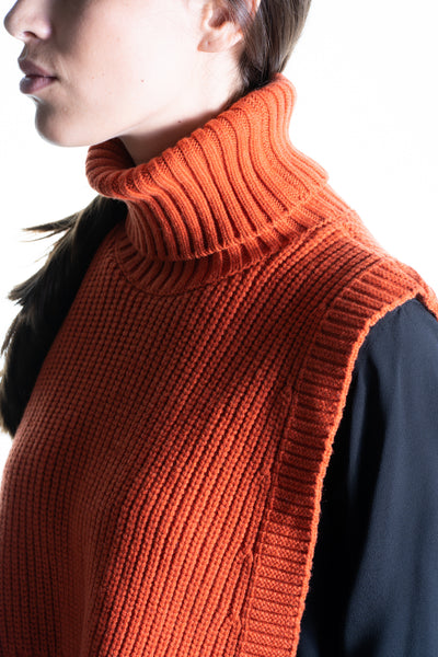 HIGH NECK - FRONT CASHMERE & WOOL