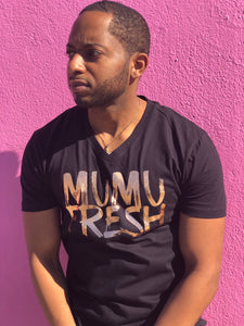 Mumu Fresh Black & Rose Gold Men's T Shirt