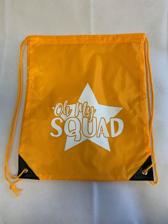 Orange Drawstring Bag - Oh My Squad