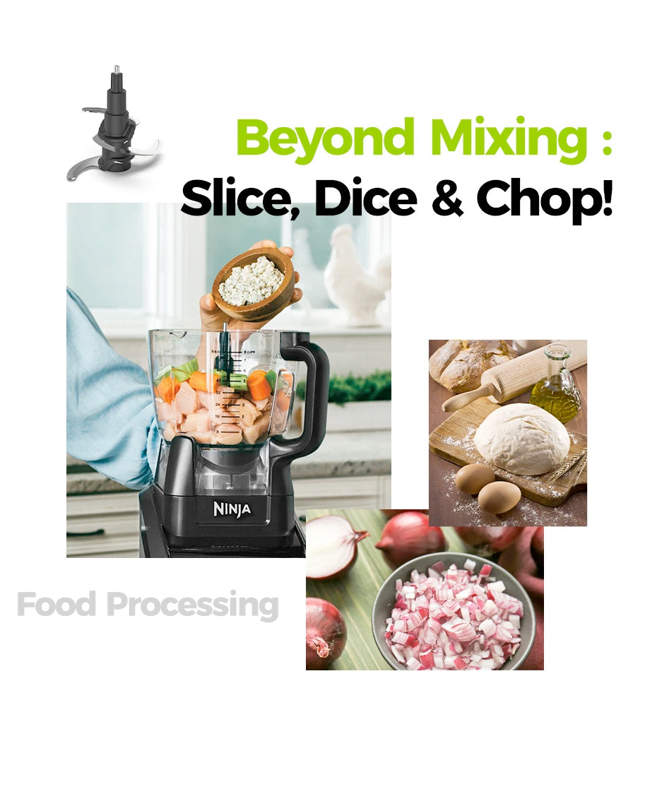 beyond mixing: slice, dice and chop