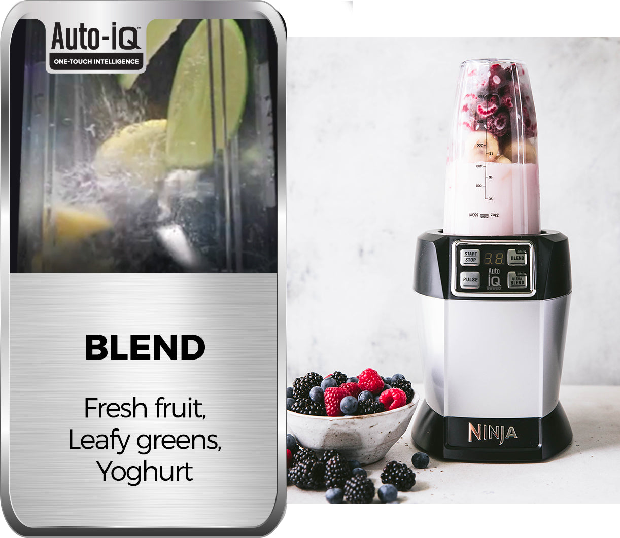 blending fruit with auto iq