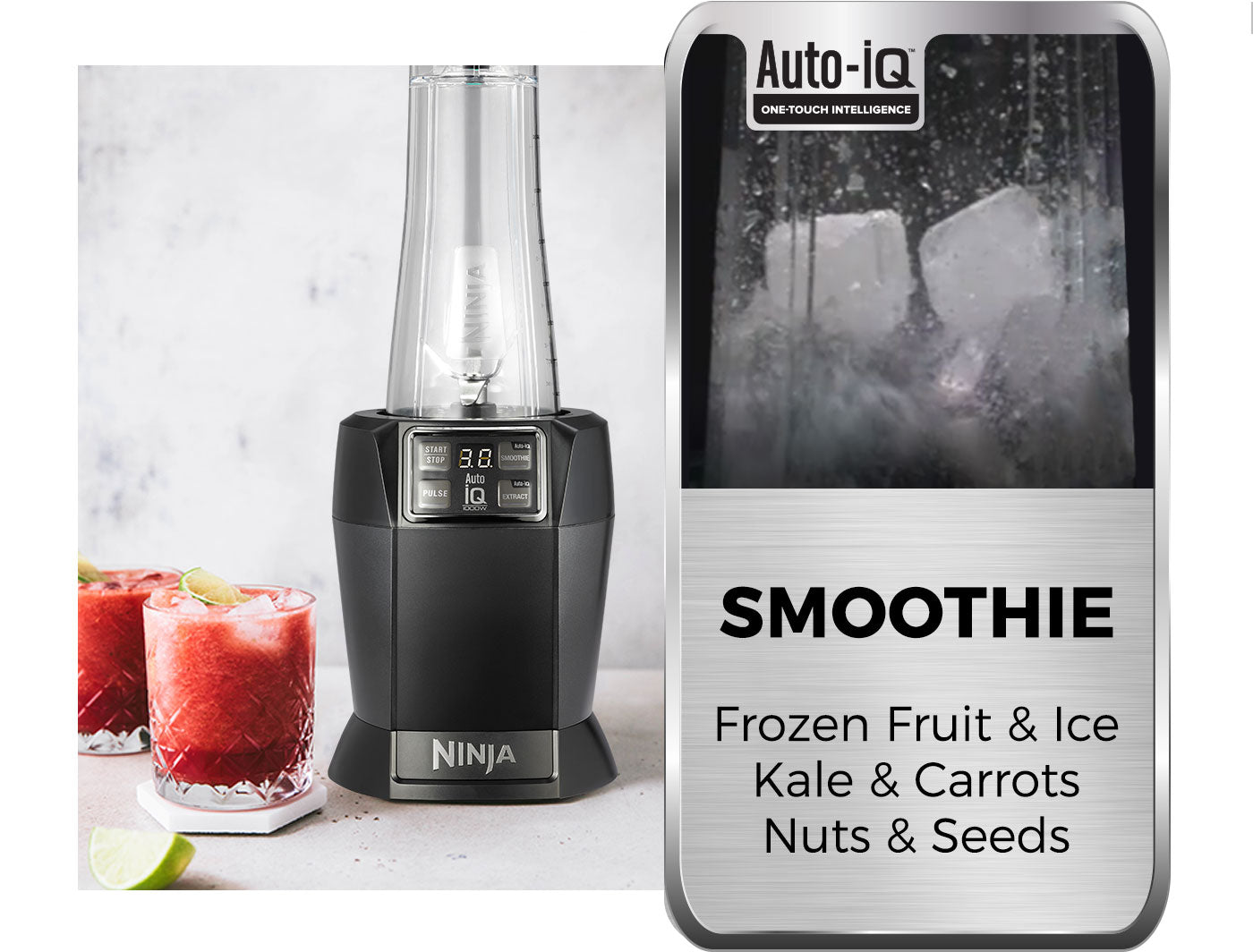 making smoothies with auto iq blender