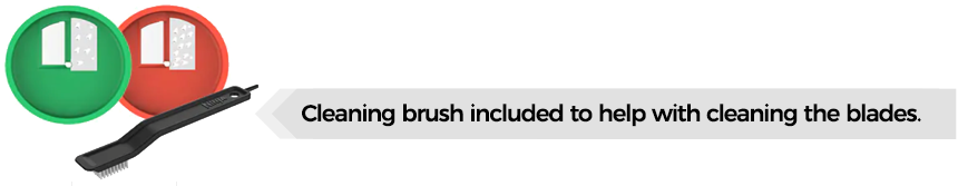 cleaning brush included