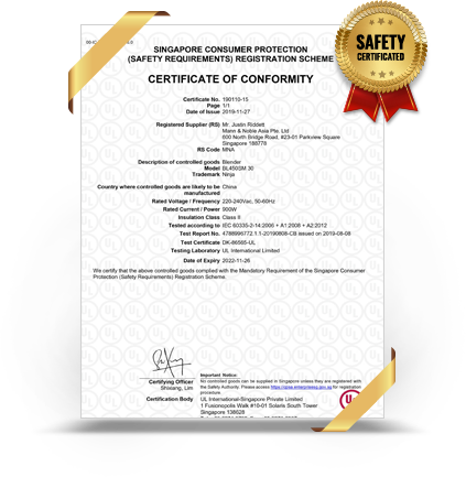 singapore safety certified