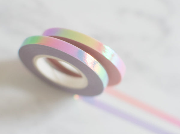 2x Paper Poetry schmales Holografisches Washi Tape