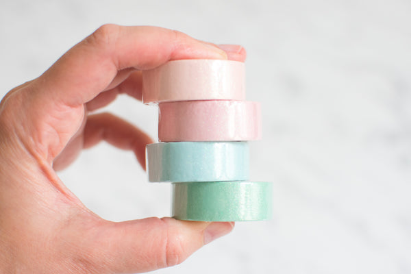 Paper Poetry Glitzer Pastell Washi Tape Set