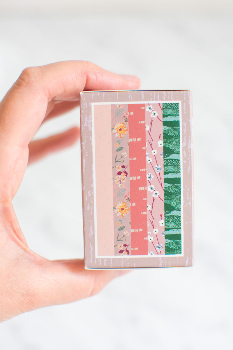 5x Paper Poetry Washi Tape Herbstliches Blumenmuster