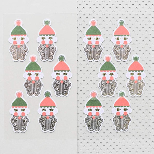 Paper Poetry Metallic Nikolaus Sticker Aufkleber Weihnachten Advent