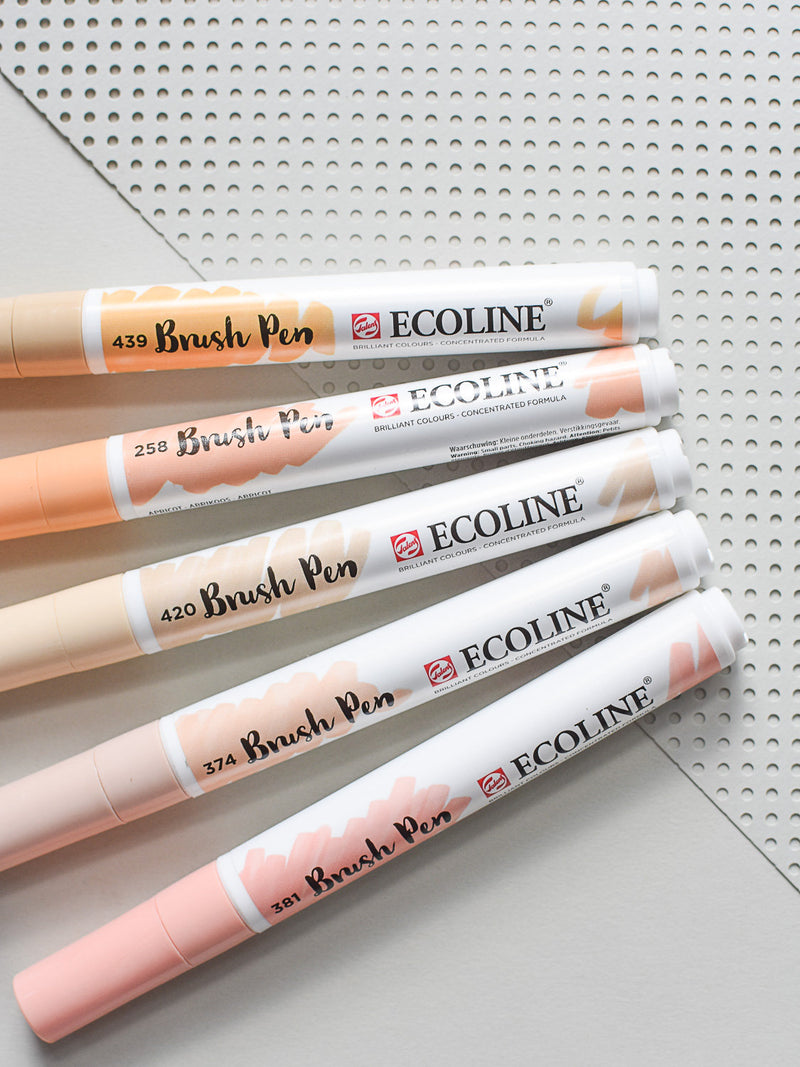 Ecoline Brush Pens 5er Set Beige Pink
