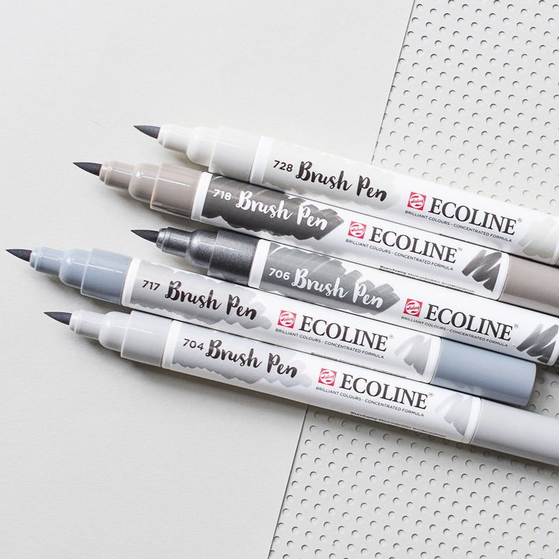Ecoline Brush Pens 5er Set Grey