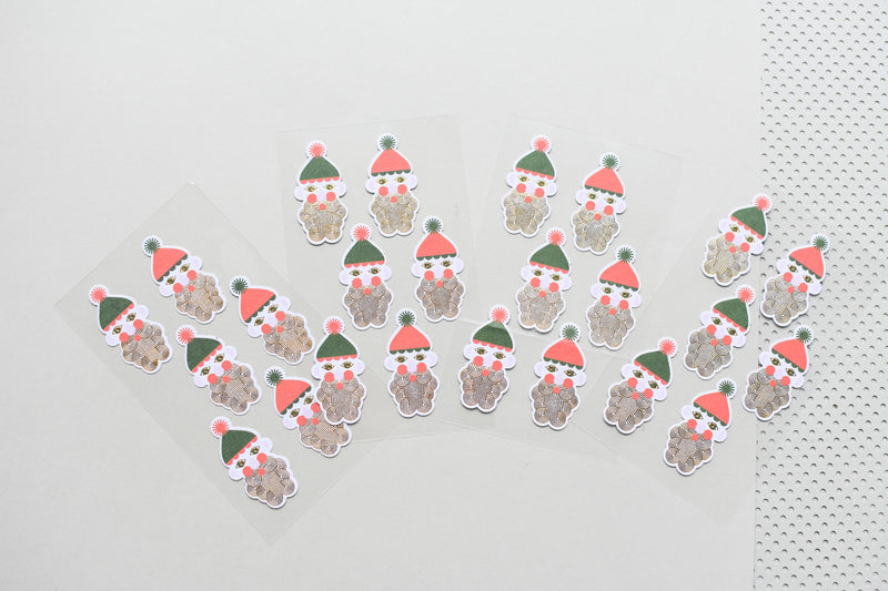 Paper Poetry Metallic Nikolaus Sticker
