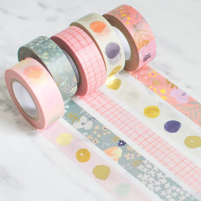 5x Paper Poetry Washi Tape Blumenmuster