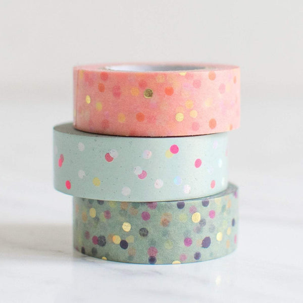 Paper Poetry Washi Tape Set in Pastellfarben mit Punkten Masking Tape
