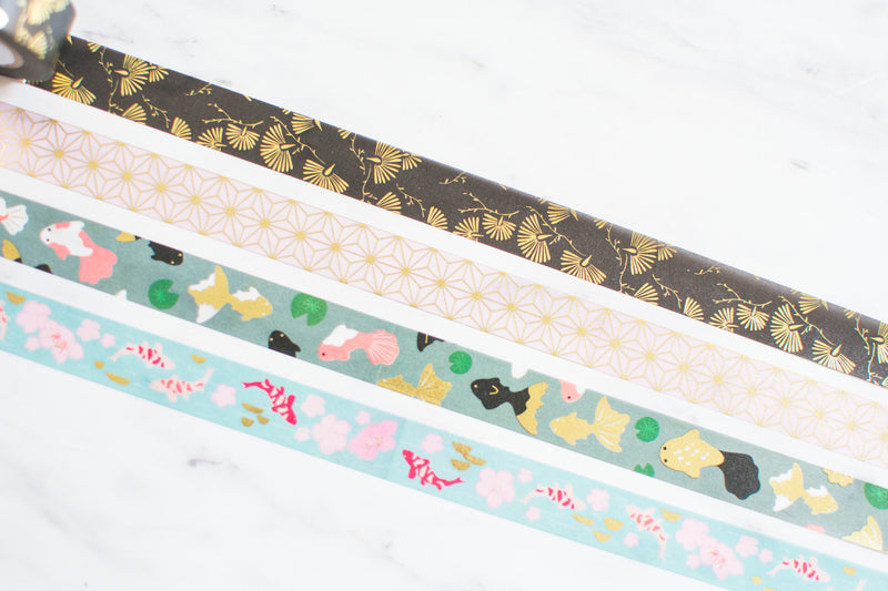Paper Poetry Washi Tape Set mit Koi Fischen - Masking Tape - Klebeband