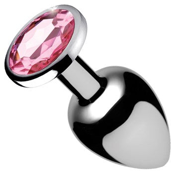 Bootysparks Weighted Pink Gem Anal Plug - XSexStore