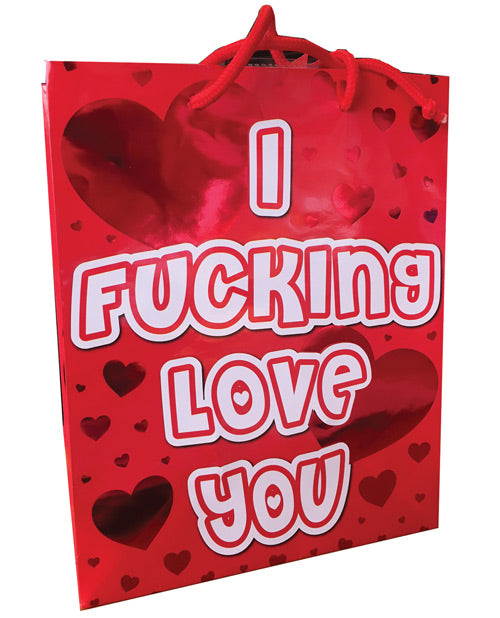 I Fucking Love You Red Heart Foil Gift Bag - XSexStore