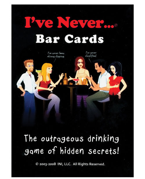 I've Never... Bar Cards - XSexStore