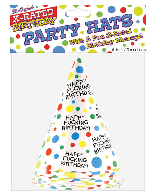 Happy Fucking Birthday Hats- Bag Of 8 - XSexStore