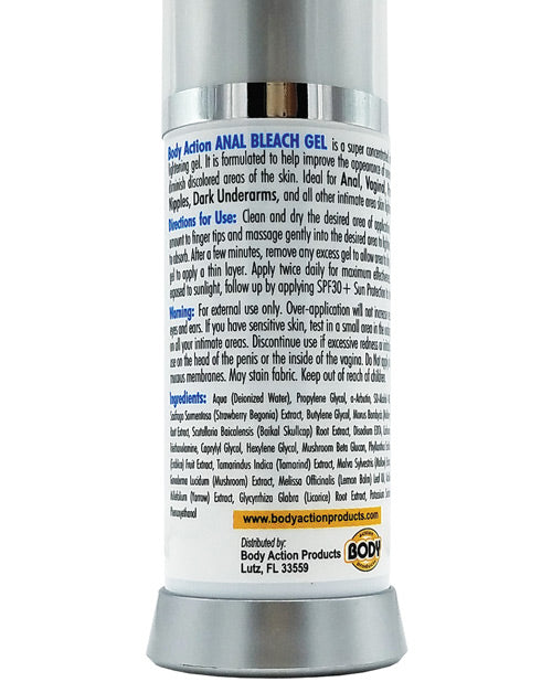 Body Action Anal Bleach Gel 1 Oz - XSexStore