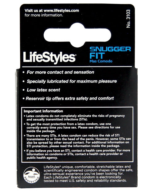 Lifestyles Snug Fit Condom- Pack Of 3 - XSexStore